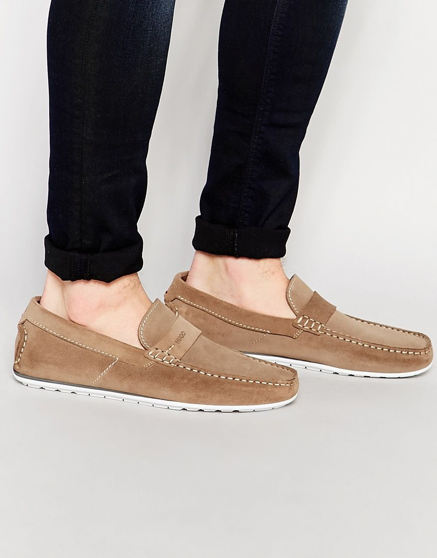 HUGO by Hugo Boss Suede Loafers at asos
