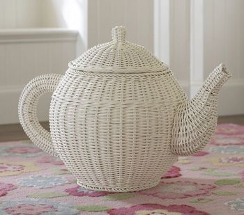 3. Pottery Barn Kids Tea Pot Basket