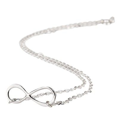 Silver Infinity Necklace - $26.00