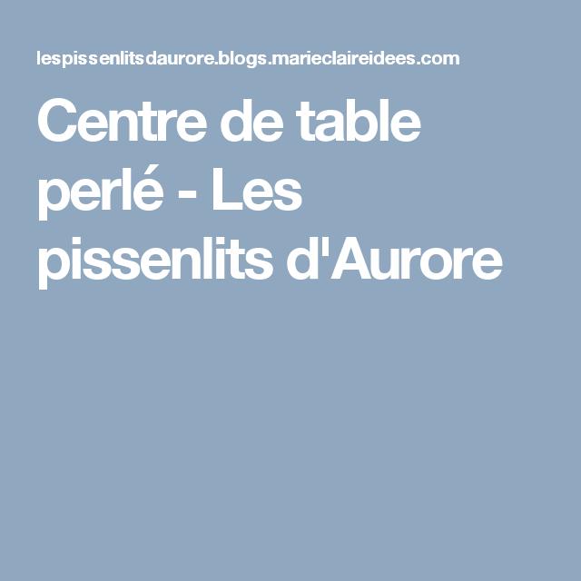 Centre de table perlé - Les pissenlits d'Aurore