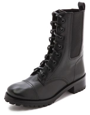 Tory Burch Broome Flat Combat Boots on shopstyle.co.uk