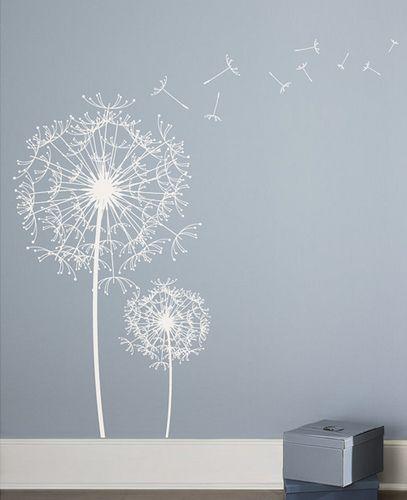 Dandelion Wall Art Dandelion Decor Black White Bedroom: Dandelion Wall Decal Sticker