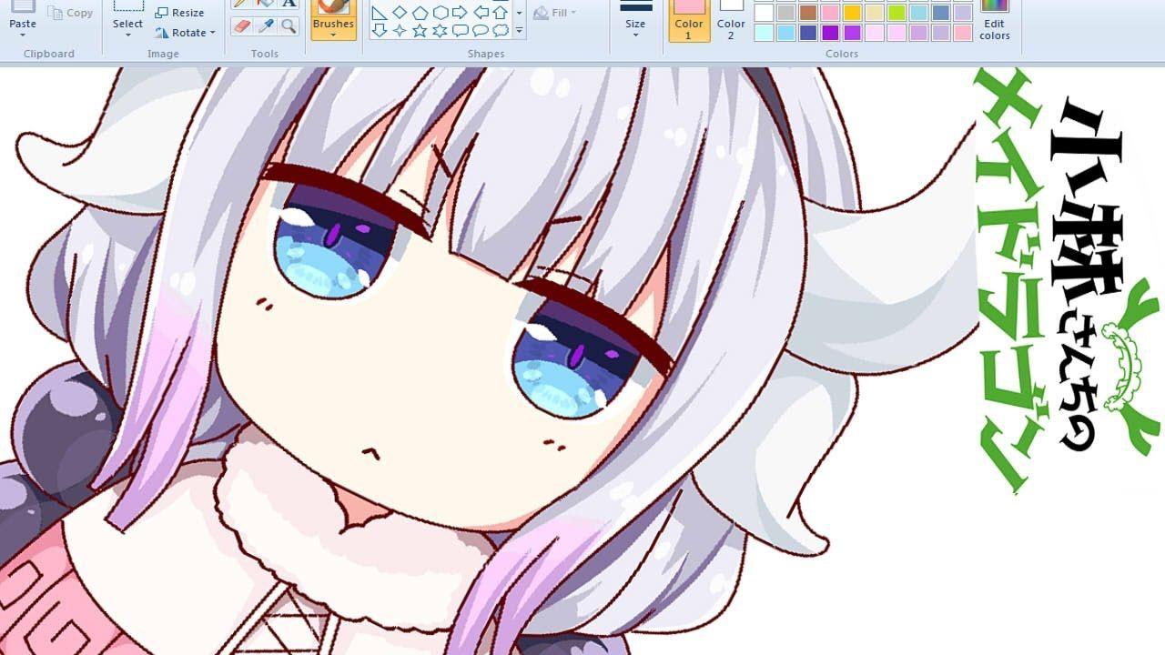 SpeedDrawing 】 Draw Anime on MS Paint Kanna Anime