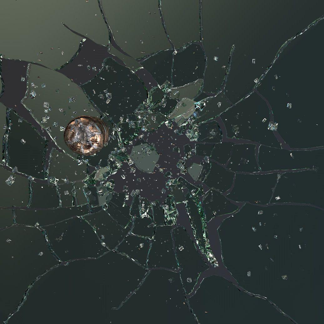 Glass Shatter Crash by Bullet 3d model Animation Glass
