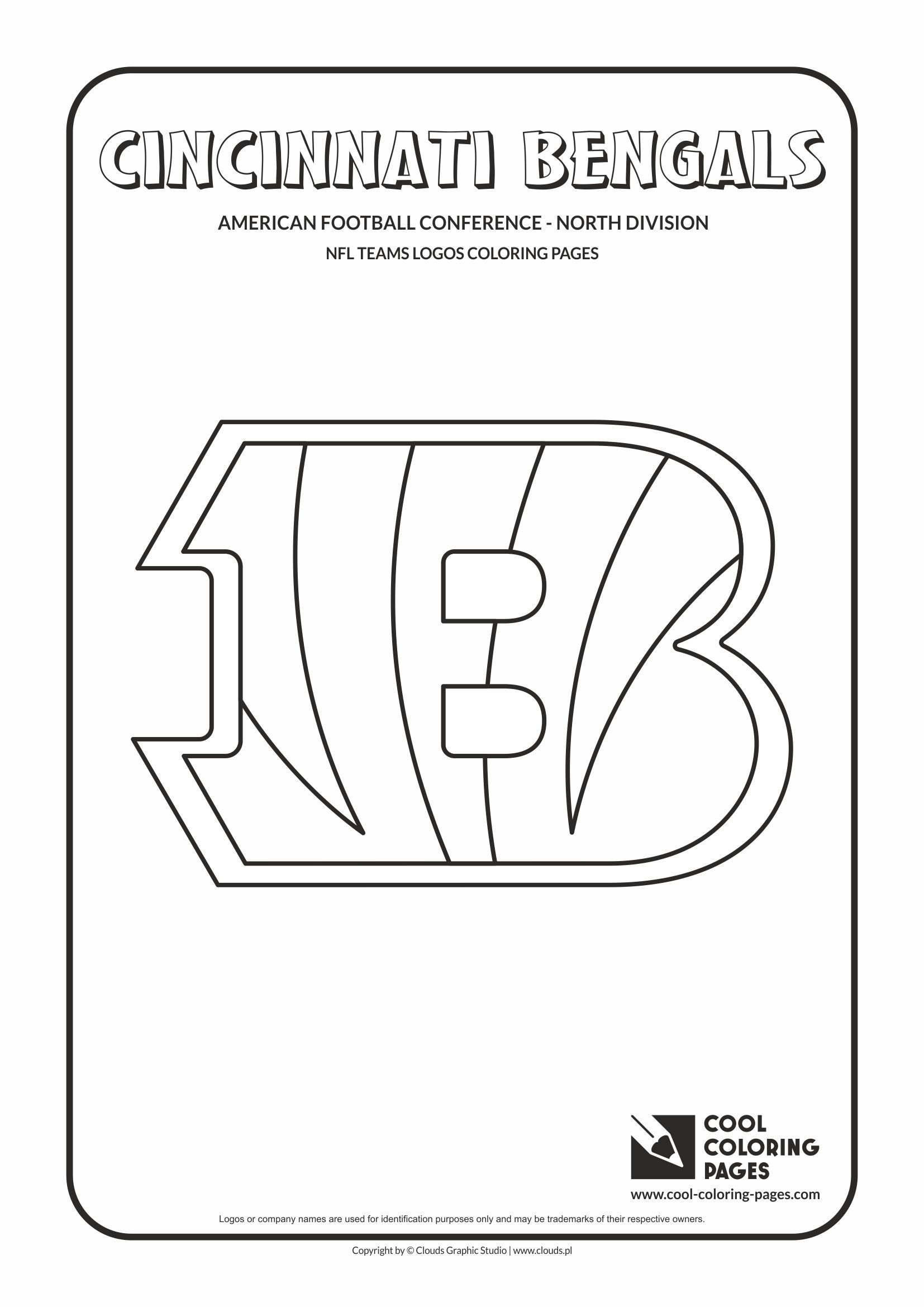 cool coloring pages nfl american football clubs logos american football - Nfl Logo Coloring Pages Printable