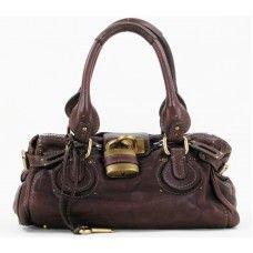 Chloe Chocolat Leather Paddington Satchel Handbag Authentic Pre Owned Luxury Handbags For Less