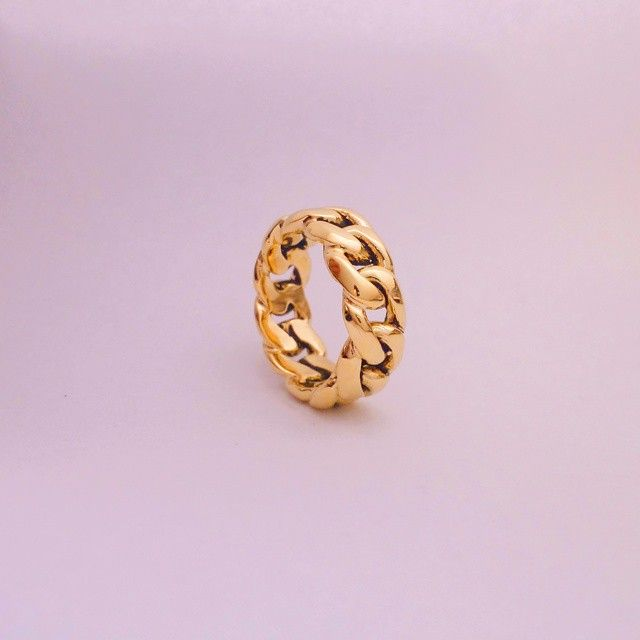 Torontogrillz On Instagram Cubanlink Ring Solid 18k Model Shown Heavy As They Come No Gimmicks Mens Gold Jewelry Men Diamond Ring Chain Linked Rings