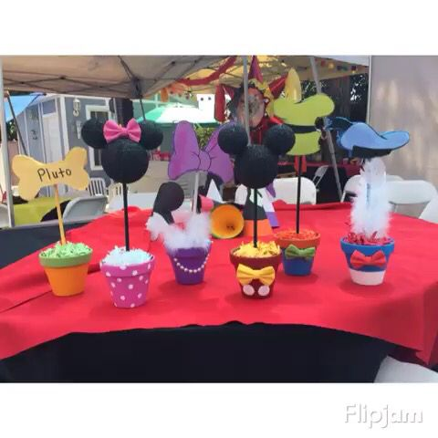 Mickey Mouse club house center pieces Diy Pinterest Mickey