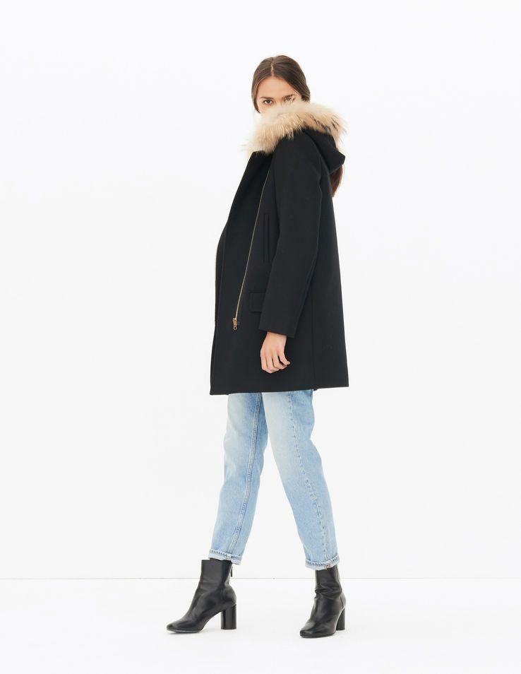 Manteau sandro henry noir