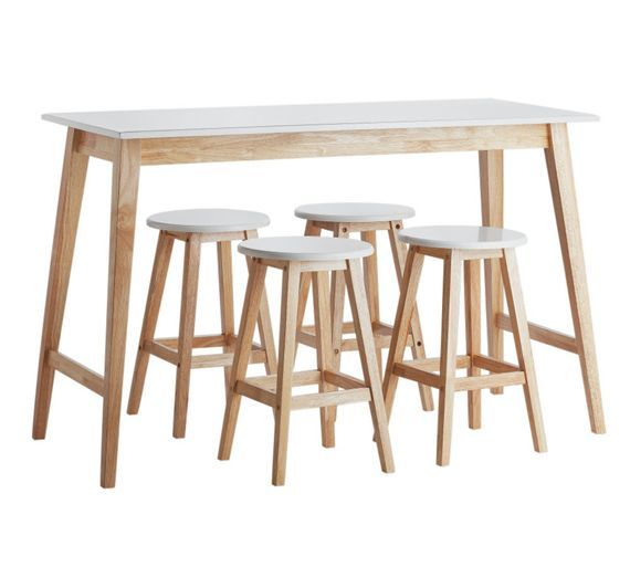 buy home kai bar table and 4 stools at argosco