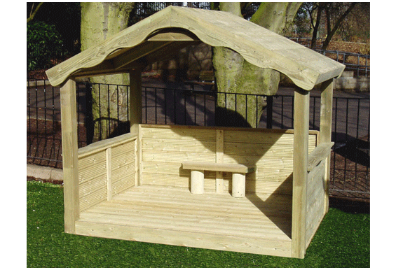 Best Childrens Large Timber Playhouse Kids Wooden Play House 400 x 300