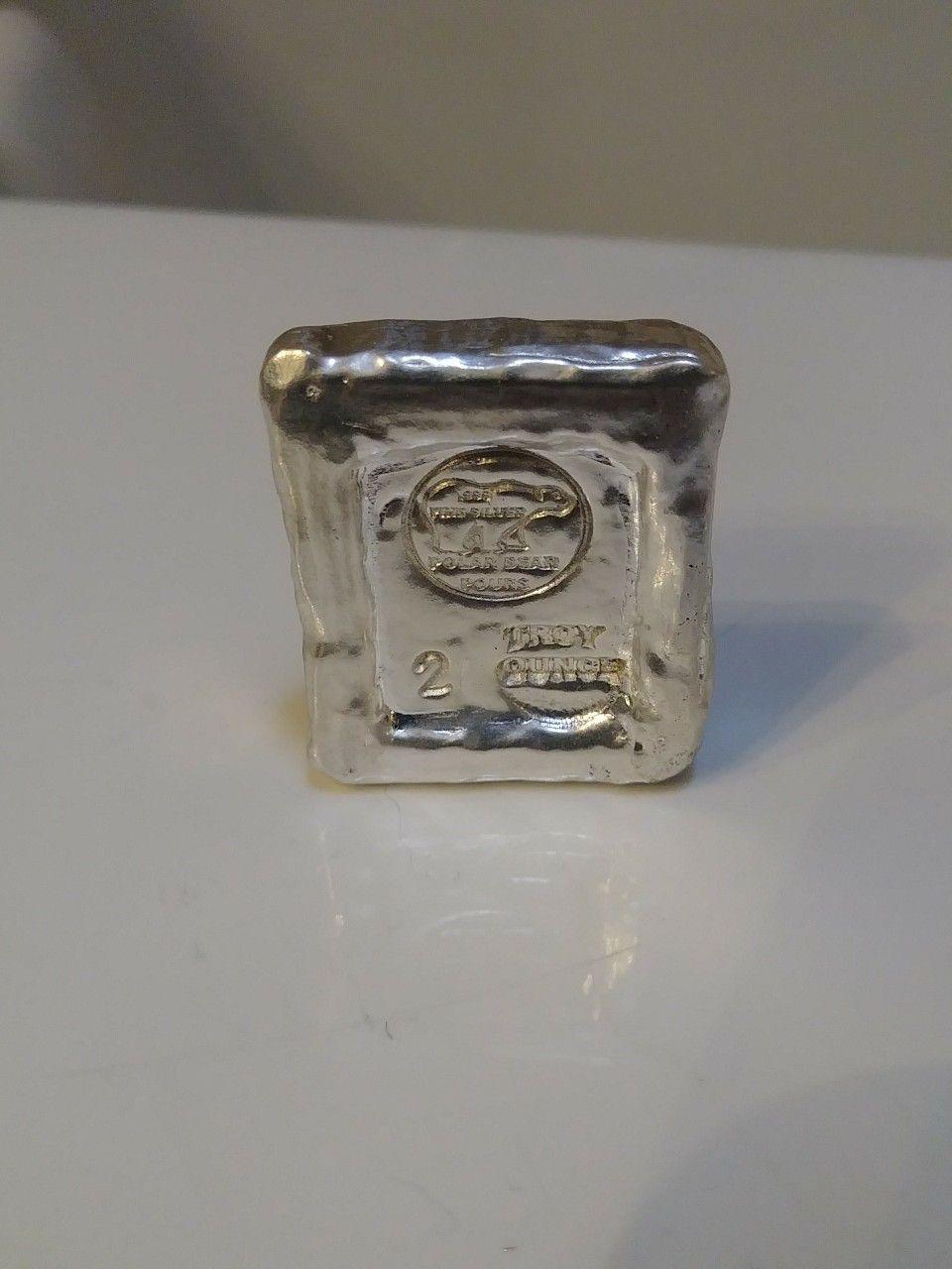 Polar Bear Pours 2 Oz Bars Rings For Men Silver Rings Silver