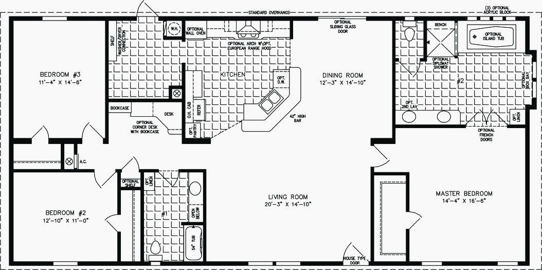 23 Unique 1800 Sq Ft Ranch House Plans In 2020 Manufactured Homes Floor Plans Mobile Home Floor Plans Best House Plans