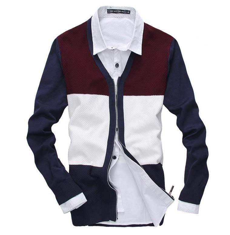 MIUK Casual Men Cardigan V Neck Cotton Long Sleeve Fashion Men ...