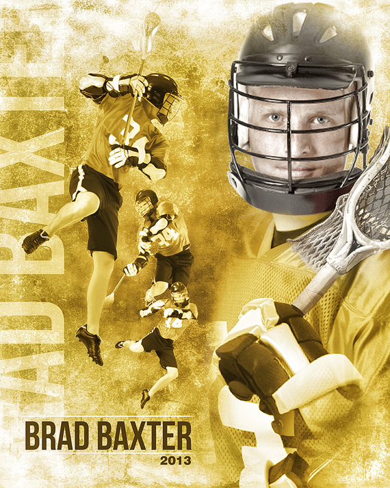 lacrosse sports collage 16x20 photoshop template for photographers