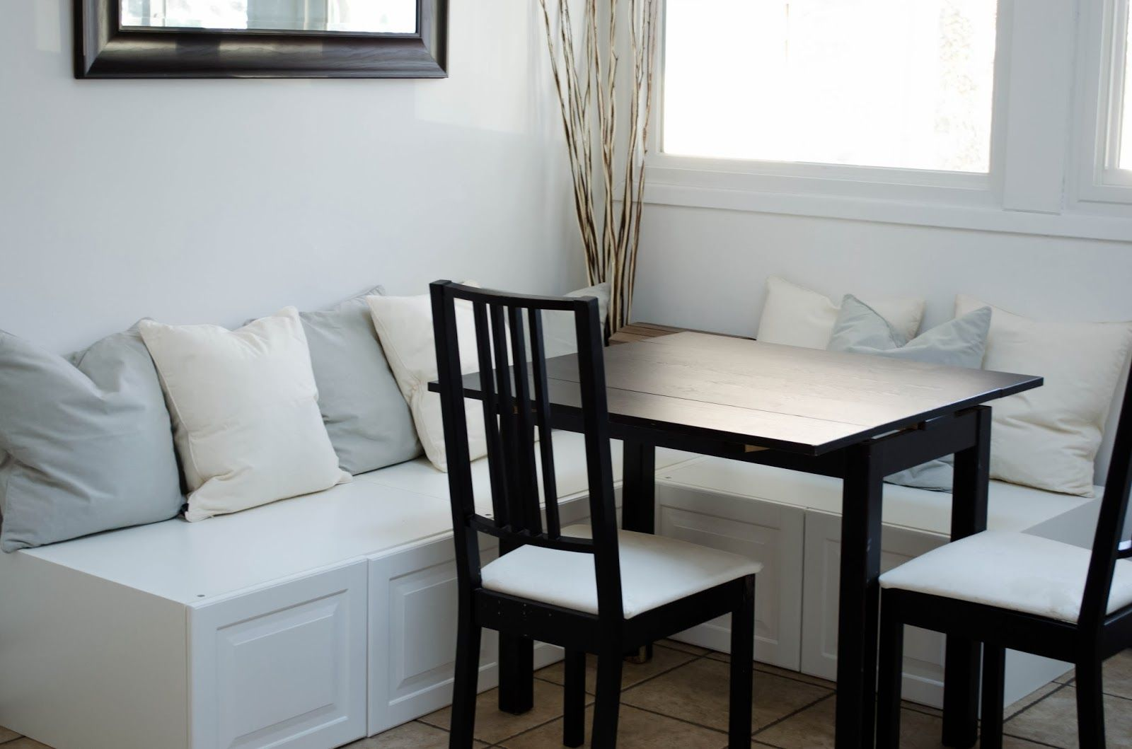 Easy DIY Breakfast Nook - Ikea Hack | Breakfast nook ...