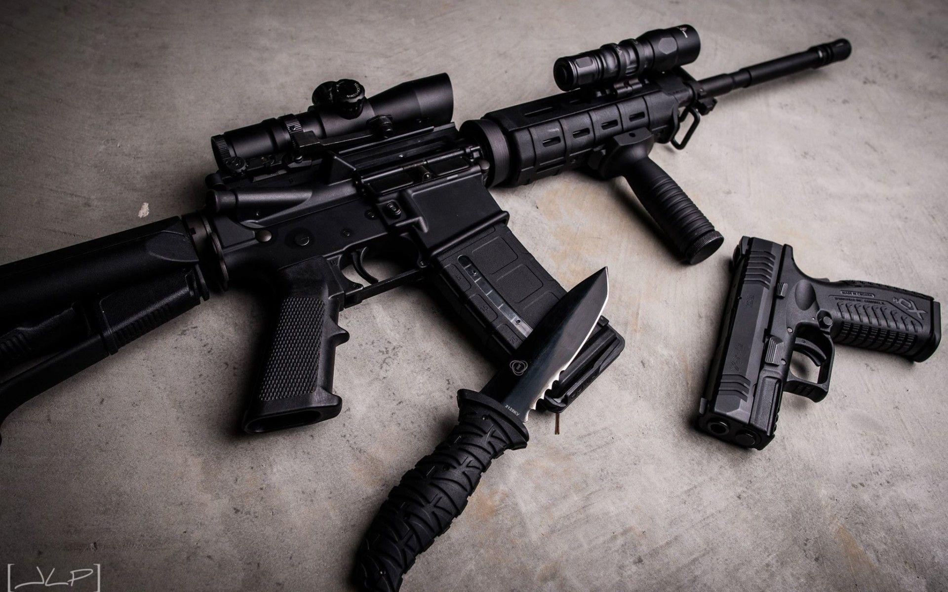 Rifles Guns Weapons Knives AR 15 Springfield Armory