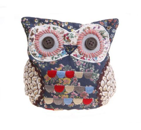 Owl Doorstop With Wide Button Eyes And Embroidered Multi Coloured Chest  Feathers This Vintage Style Owl Doorstop Will Keep The Nursery Door Open In  Style!