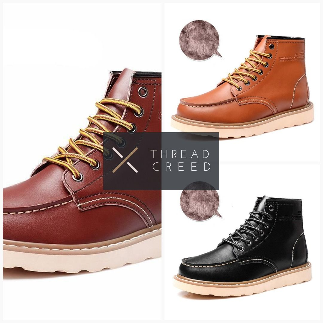 8910510fdca Waterproof Lace Up Western Warm Boots in 2019 | My ThreadCreed ...