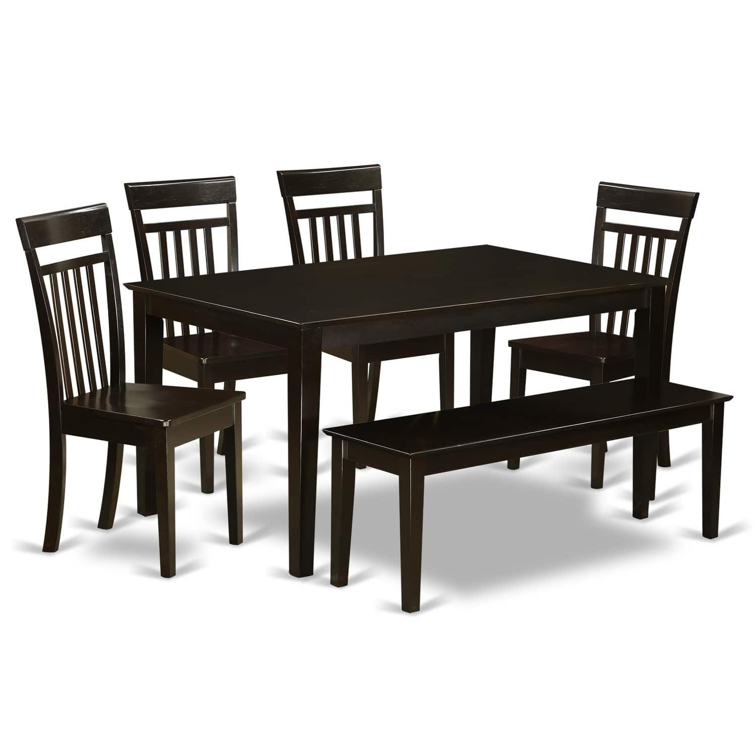 CAP6S CAP 6 PC Dining set Table and 4 Kitchen Chairs plus a bench