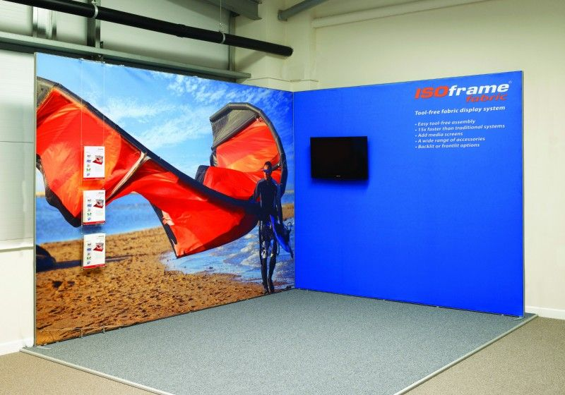 Fabric Exhibition Stand Years : Isoframe fabric shell scheme cladding exhibits