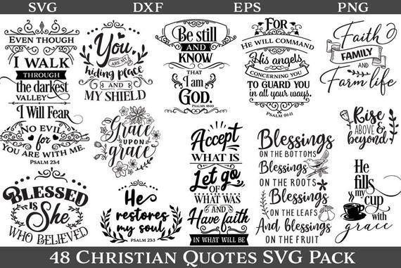 Christian Bundle Bible Verses Svg Dxf Png Bundle Cut File Artofit