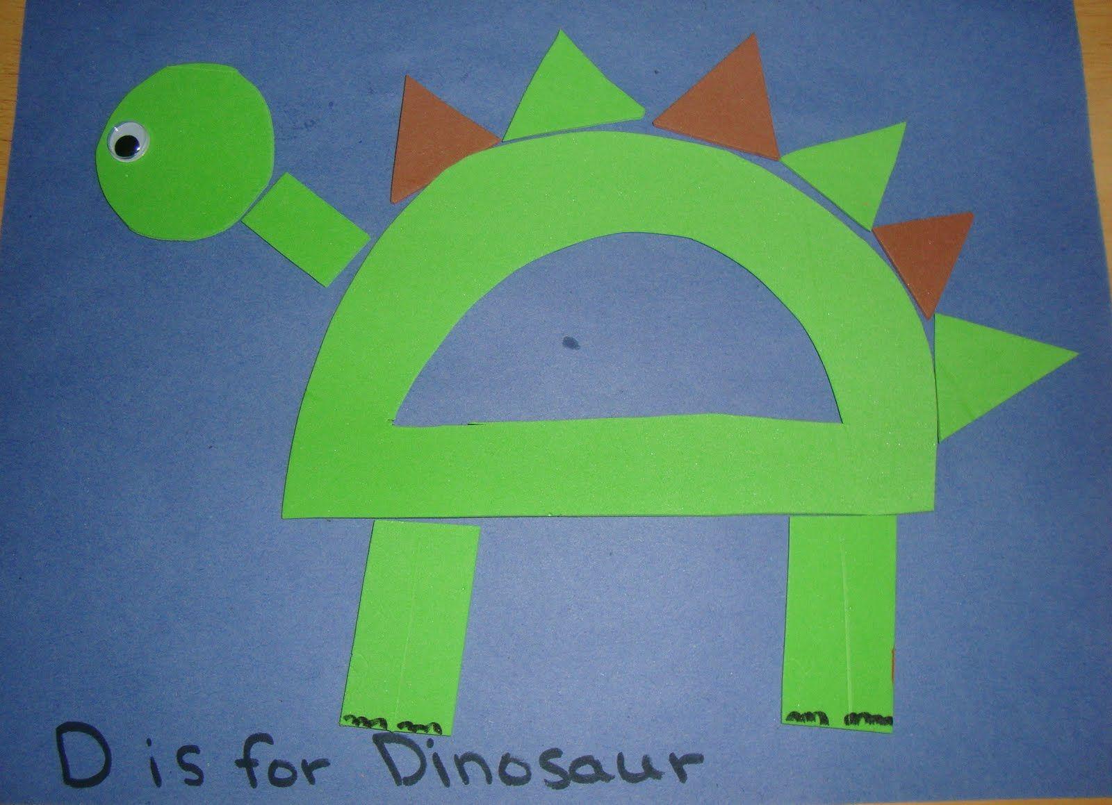 Printable Letter D Crafts Dinosaur