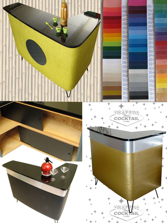 RETRO BAR mid century modern furniture 50s tiki cabinet vintage mad ...
