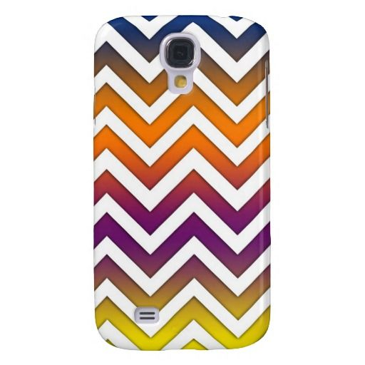 Sunset Gradient Chevron Samsung Galaxy S4 Covers
