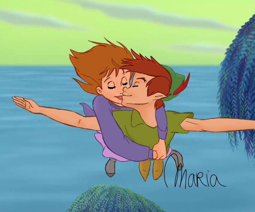 Kiss Peter Pan Disney Peter Pan Disney Art