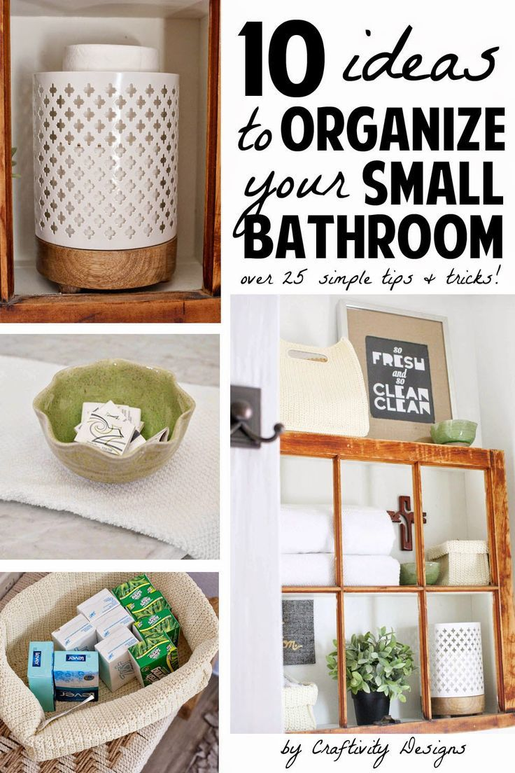 10 Ideas to Organize a Small Bathroom | For The Home | Pinterest ...
