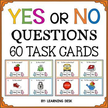 Yes No Question Cards Yes No Questions Speech Therapy With Images