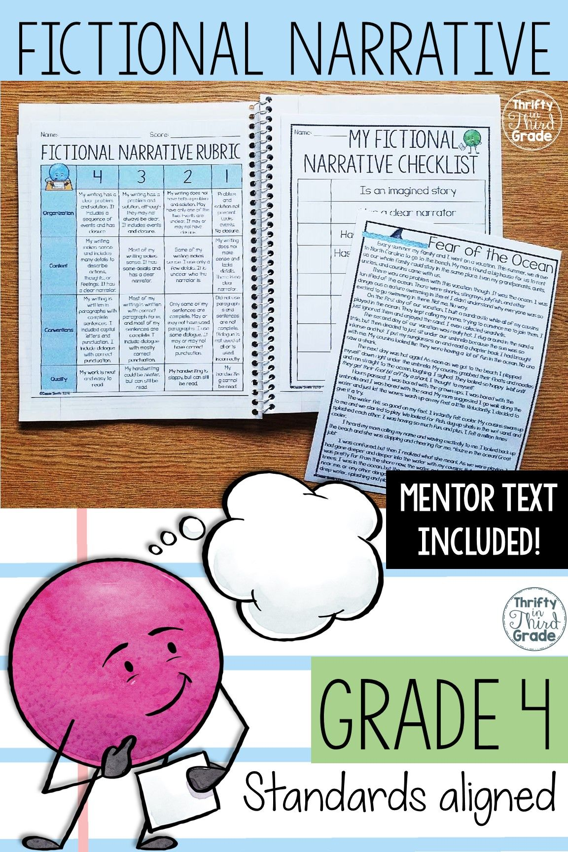 This Fictional Narrative Writing Unit Includes Mentor Text
