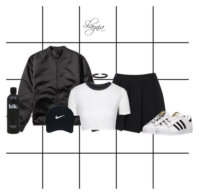"""""""Untitled #683"""" by slaynia ❤ liked on Polyvore featuring Forum, rag & bone, Acne Studios, Topshop, Nike Golf and adidas"""