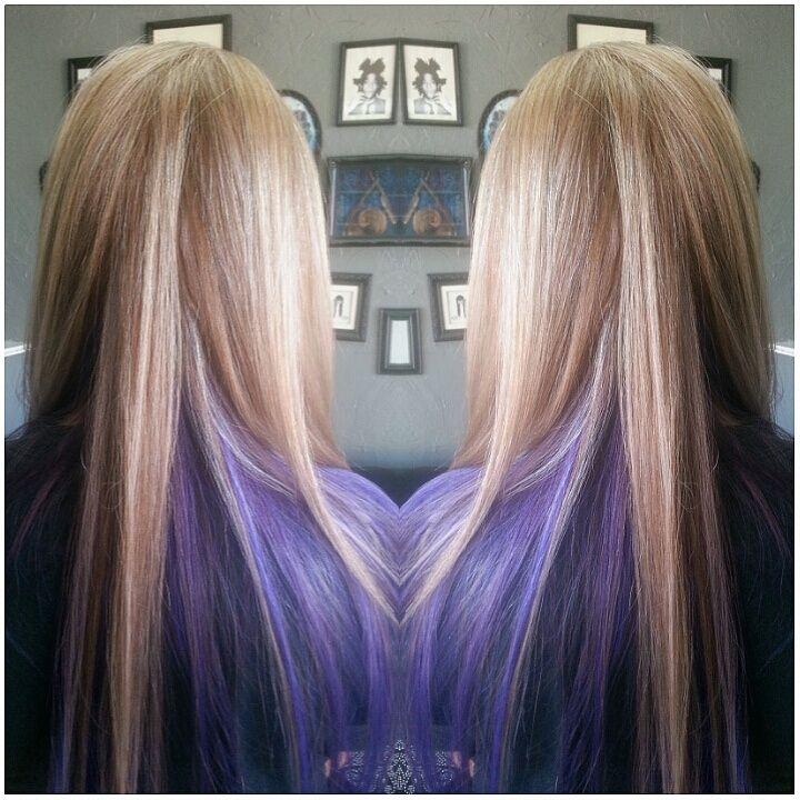 pin  hair raizers salon  hair  charity fipps Pin Peek A Boo Highlights On Dark Hair On Pinterest