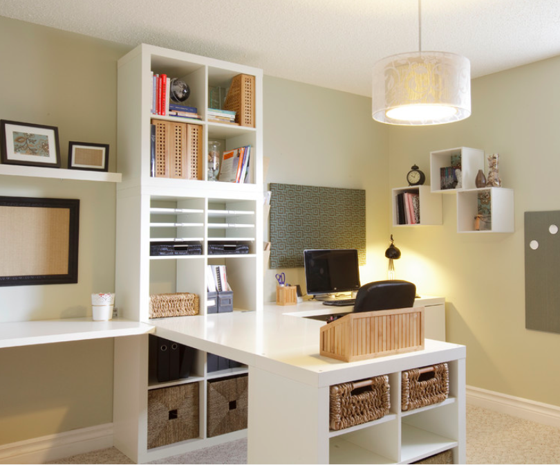 Desk And Craft Area Home Office Storage Traditional Home Office Ikea Craft Room