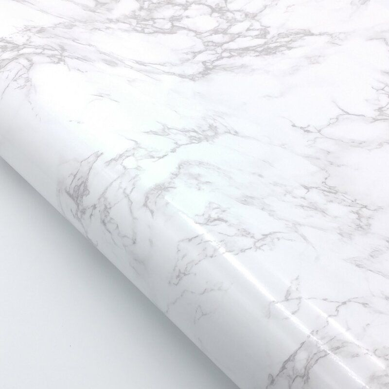 Tulane Faux Marble Contact Paper 6 5 L X 24 W Peel And Stick Wallpaper Roll In 2020 Faux Marble Peel And Stick Wallpaper Marble Interior