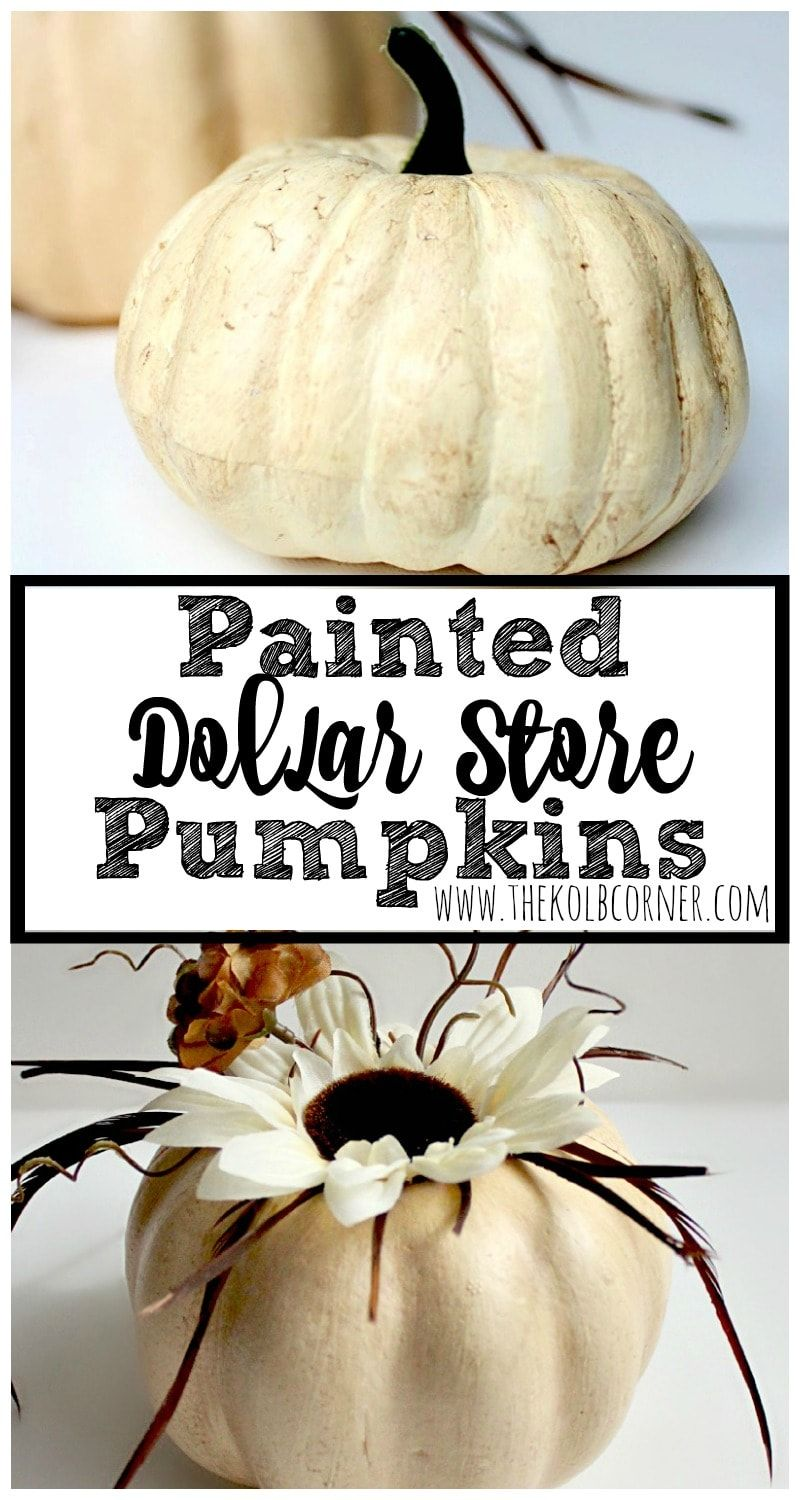 How to store pumpkins - Painted Dollar Store Pumpkins