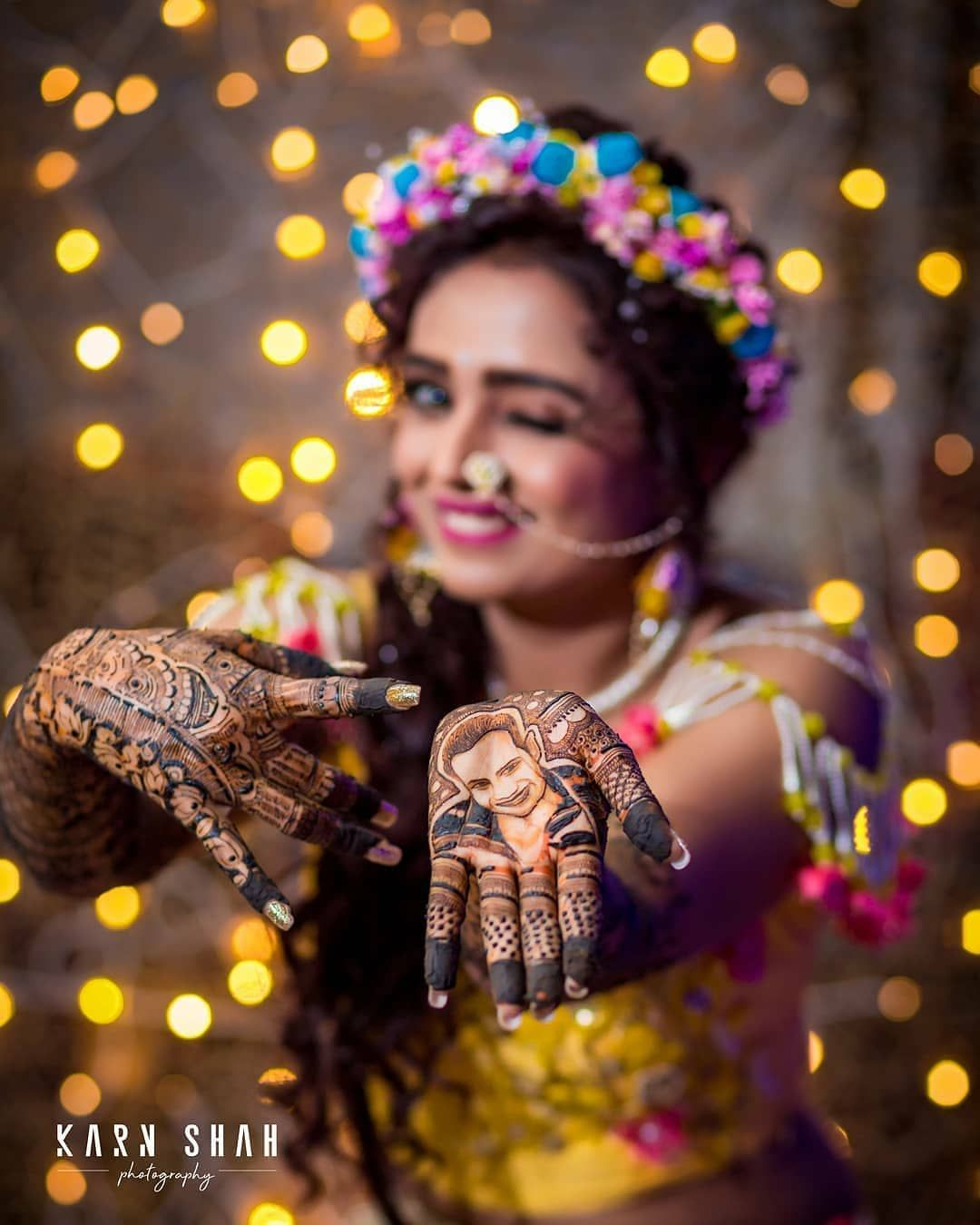 The official pictures of @parulchauhan19's mehendi function are out and we can't take our eyes off that personalised mehendi design! ♥️ . .… #bridalphotographyposes