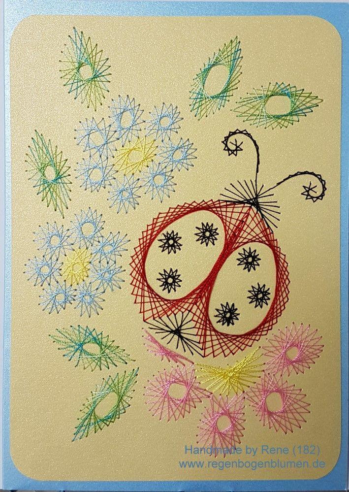 Grußkarte 182 - Marienkäfer 01_5 - Doppelkarte mit Umschlag Format A6
