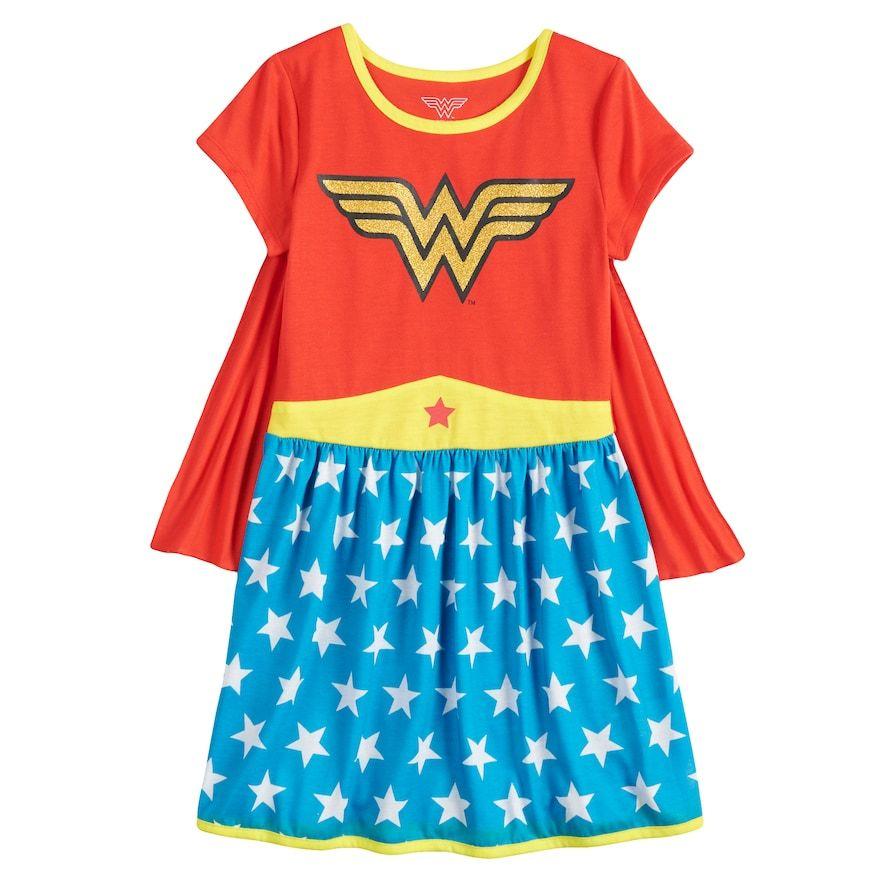 DC Comics Wonder Woman Girls Plush Fleece Bathrobe Robe