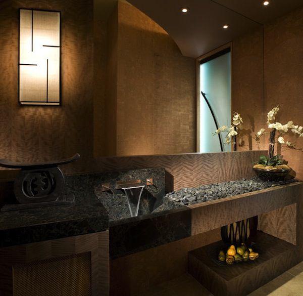 Asian powder room