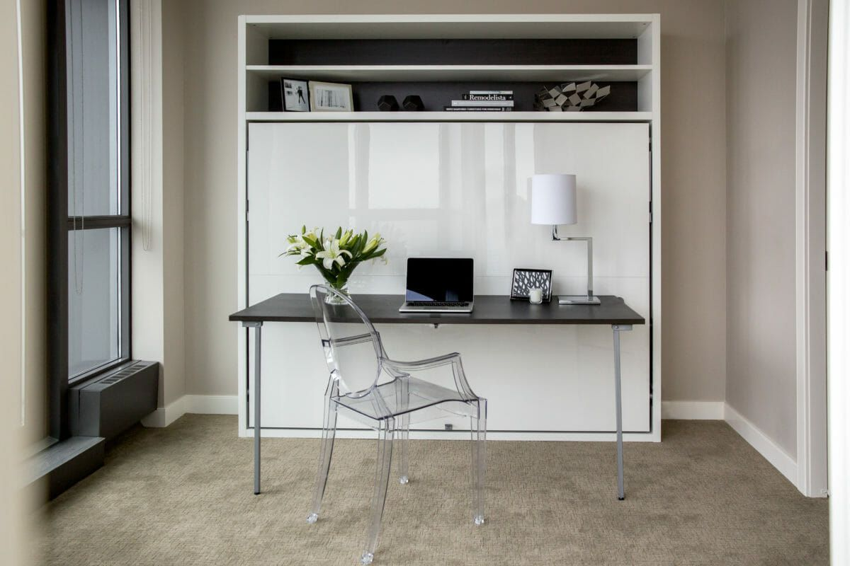 Horizontal Queen Wall Bed With Desk Adam Tavolo Resource Bed