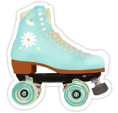 Retro Green Pastel Roller Skate Sticker By Mimietrouvetou In 2021 Skate Stickers Roller Skating Preppy Stickers
