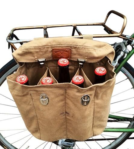 Vintage British Army Bag Beer Pannier Bike Seat Bag Pannier
