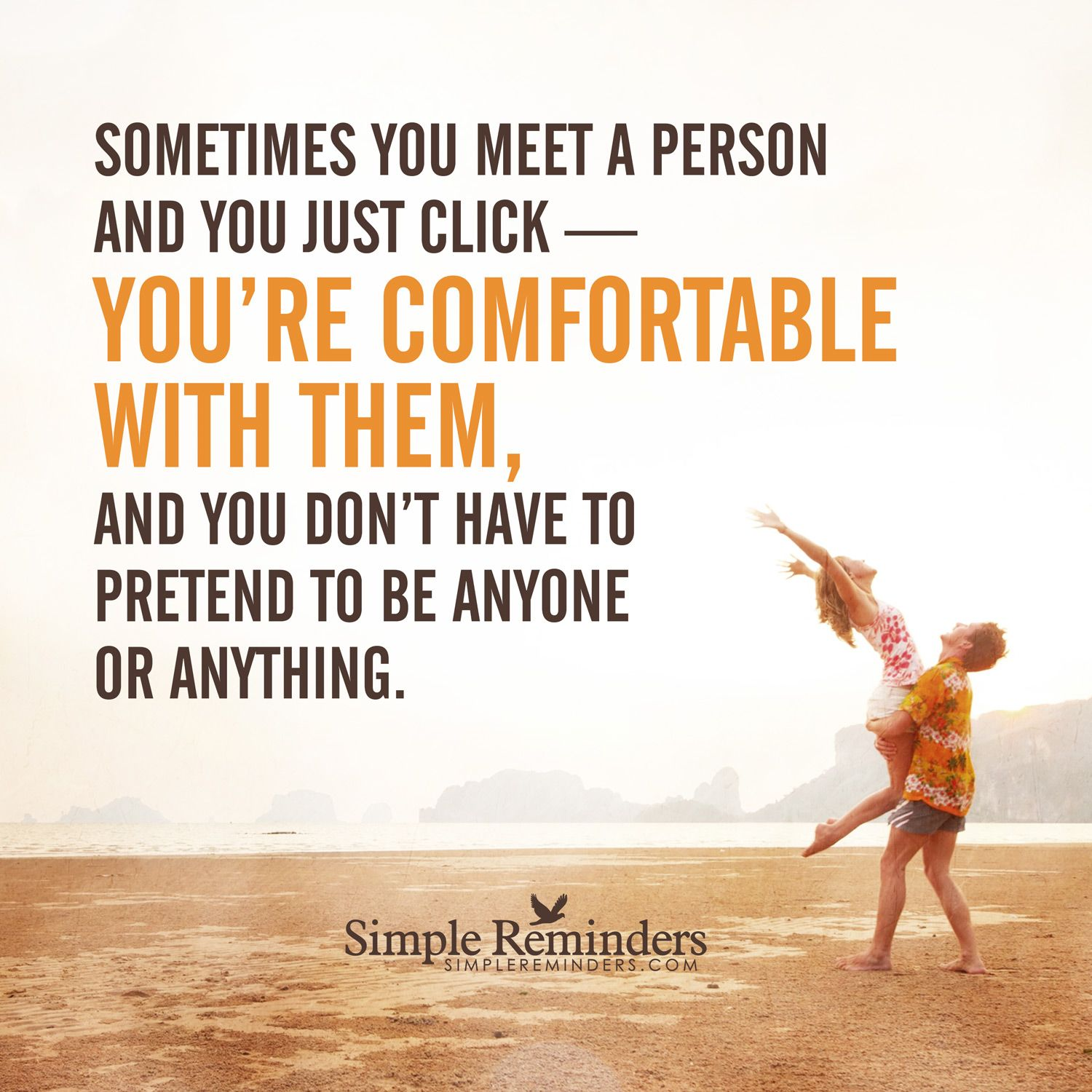 People you click with Sometimes you meet a person and you just click — you'
