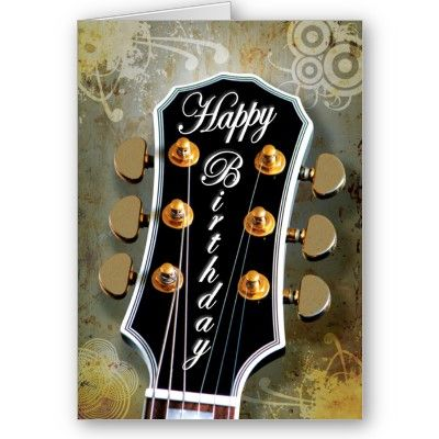 Guitar birthday card products i love pinterest birthdays guitar birthday card m4hsunfo