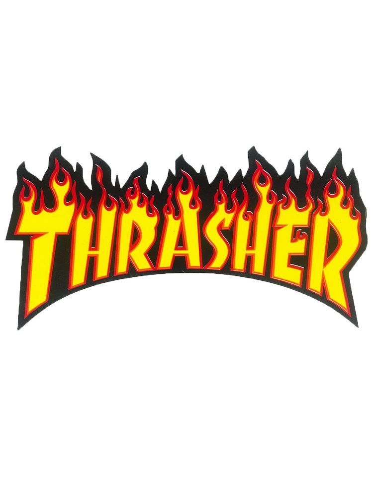 The Thrasher Flame Logo Sticker Allows You To Easily Personalize And Improve Your Items Peel Super Adhesive Backing Stick Flaming Text