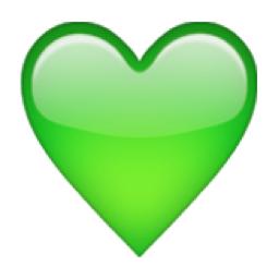 The Green Heart Emoji On Iemoji Com Emoji De Coracao Papel De