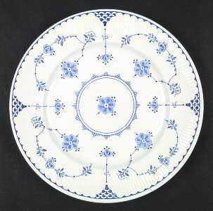 Franciscan Denmark. Addition of cornflower blue flowers is their riff on this eternal dishware motif